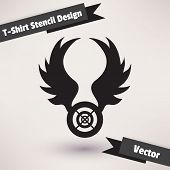 T-Shirt Stencil Design vector illustration. Template for your design