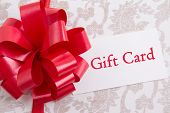 Gift Box With Big Bow And Gift Card