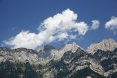 Mountain Panorama In The Alps