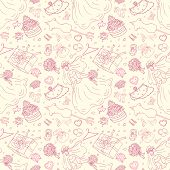 Seamless wedding patterns.