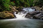 Waterfall In The Forest Of Thailand.