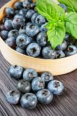 Blueberry On Wooden Board