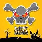 pic of happy halloween  - vector happy halloween card - JPG