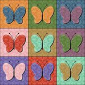 scrapbook butterflies on white background