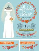 stock photo of bridal veil  - Bridal shower invitation set - JPG