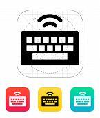 Wireless keyboard icon.