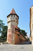 picture of sibiu  - sibiu city romania Carpenters Tower landmark architecture - JPG