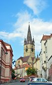 foto of sibiu  - sibiu city romania Parochial Evangelical Church landmark architecture - JPG