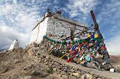 Stupa With Prayer Flags - Leh - Ladakh
