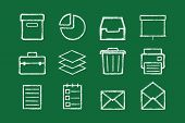 Sketched internet icons vector