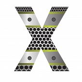 Perforated Metal Letter X
