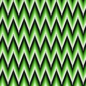 Seamless Pattern With Green Zigzag Elements