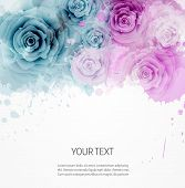 Background With Abstract Roses Template