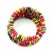 Colorful  Bracelet Fashion On White Background