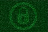 Encrypted Digital Lock With Green Binary Code