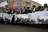 Supporters Of Mikhail Prokhorov On The March For Fair Elections