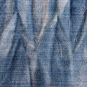 Vintage Jeans Texture With Scuffed