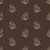 Vector Seamless Owl Pattern
