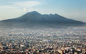Vesuvius Volcano In Naples Italy