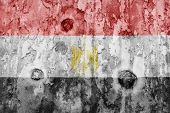 Egypt Flag On A Weathered Grunge Background