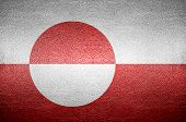 Closeup Screen Greenland Flag Concept Leather