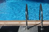 Handrails On Side Of A Water Pool