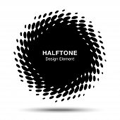 Black Abstract Halftone Design Element
