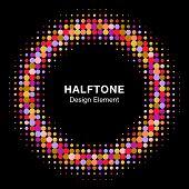 Colorful Bright Halftone Circle