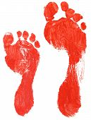 Real Adult And Child Footprints