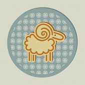 Decorative Christmas Sheep And Snowflakes
