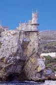 Symbol of Crimea small castle on a cliff above the sea