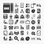 Business Icons And Finance Icons  On  White Paper .illustration Eps10
