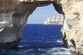 Famous Stone Arch Of Gozo Island, Azure Window