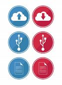 Data And Cloud Icons