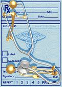3D Stethoscope Patient Check Up Concept