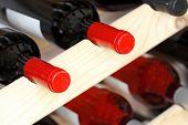 Stored Wine Bottles