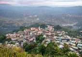 High view of the small town of Zaruma
