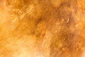 stock photo of copper  - Stained and scratched old copper metal plate texture - JPG