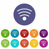 Wi-fi flat icon