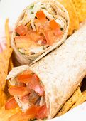foto of shawarma  - Chicken Doner Kebab or Chicken Shawarma close up - JPG