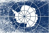 Flag Of Antarctica Grunge