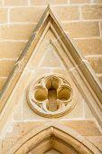 Architectural detail of Lourdes Church