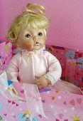 Antique Blond Porcelain Doll Portrait