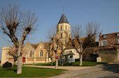 France, Church Of Saint Martin La Garenne In Yvelines
