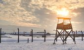stock photo of auschwitz  - The Auschwitz - JPG