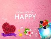 Textured pink Happy Valentines Day card