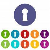 Keyhole flat icon