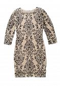 Beige Female Dress With A Pattern.