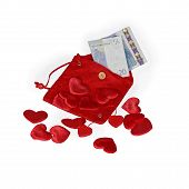 Red Pouch With Twenty Euro Banknote