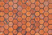 Octagon Red Brick Wall